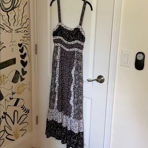 Free people maxi dress with open back and bow
